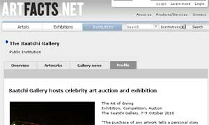 Gastón Ugalde at The Saatchi Gallery among forty of the world's leading artists 10/7
