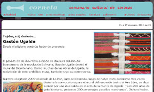 Gastón Ugalde artista plastico de bolivia
