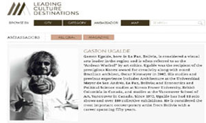 Gaston Ugalde Leading Culture Destinations Ambassador