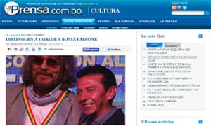 Distinguen a Gastón Ugalde y Sonia Falcone