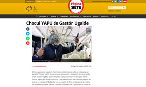 Choqui YAPU de Gastón Ugalde @ Pagina Siete