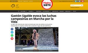 Gastón Ugalde evoca las luchas campesinas en Marcha por la Vida @ Pagina Siete