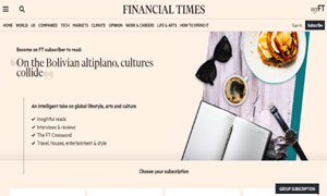 Financial Times - On the Bolivian altiplano, cultures collide