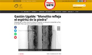 Monolito de Gastón Ugalde @ Pagina Siete
