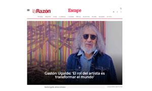"""Gastón Ugalde: """"El rol del artista es transformar el mundo"""""""